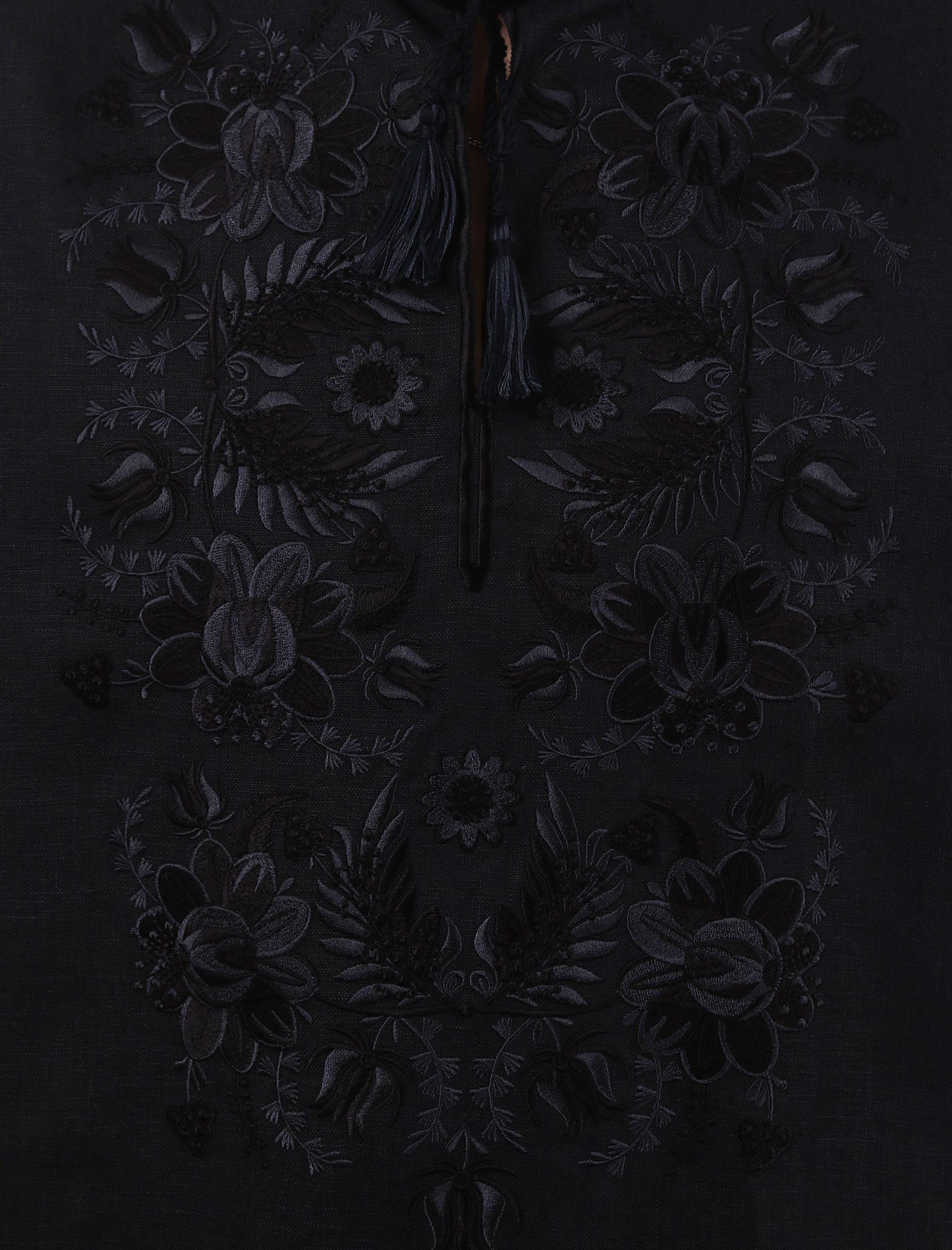 Вишиванка «Петриківка» (чорна)