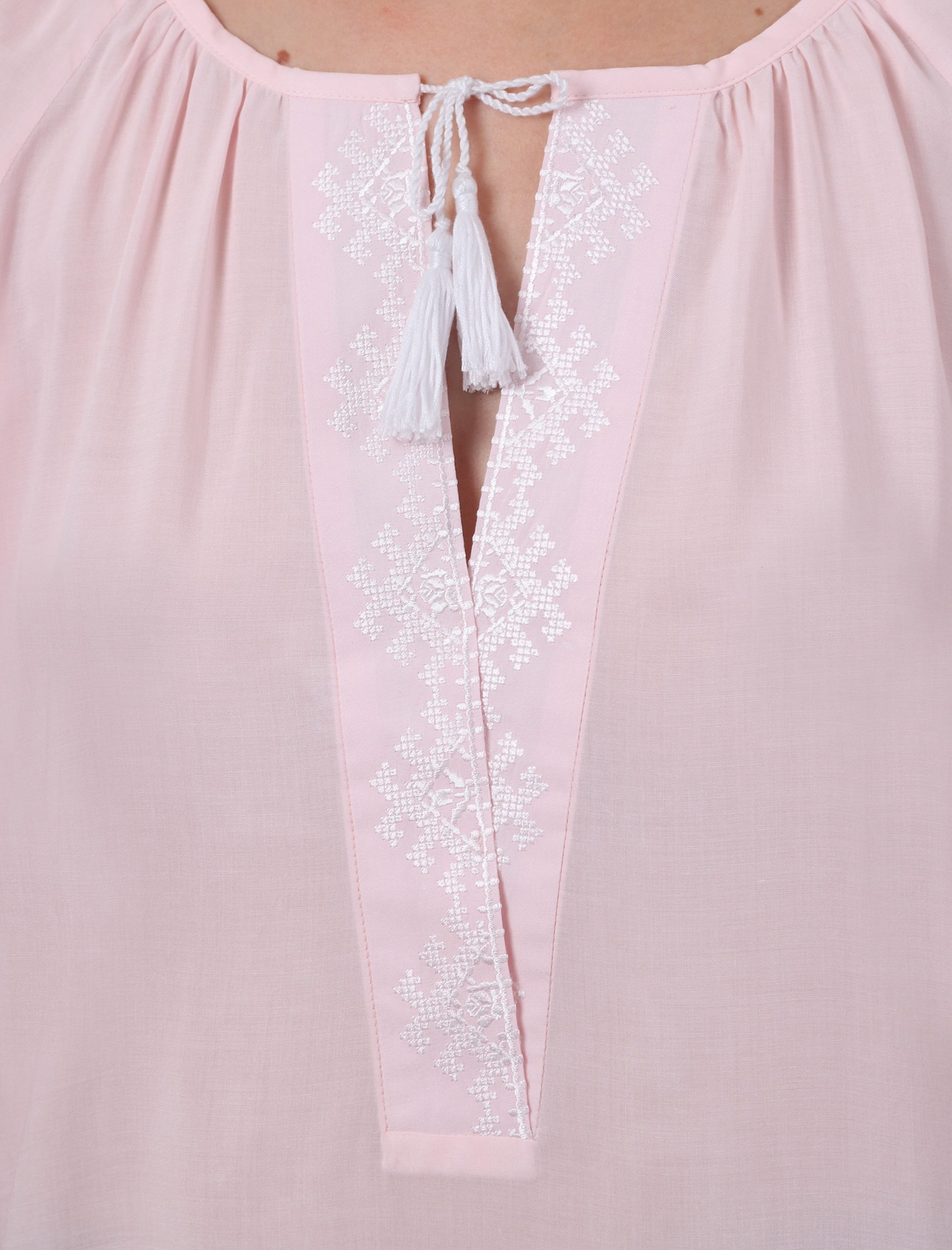 Блуза з вишивкою «Троянди кохання» (рожева)