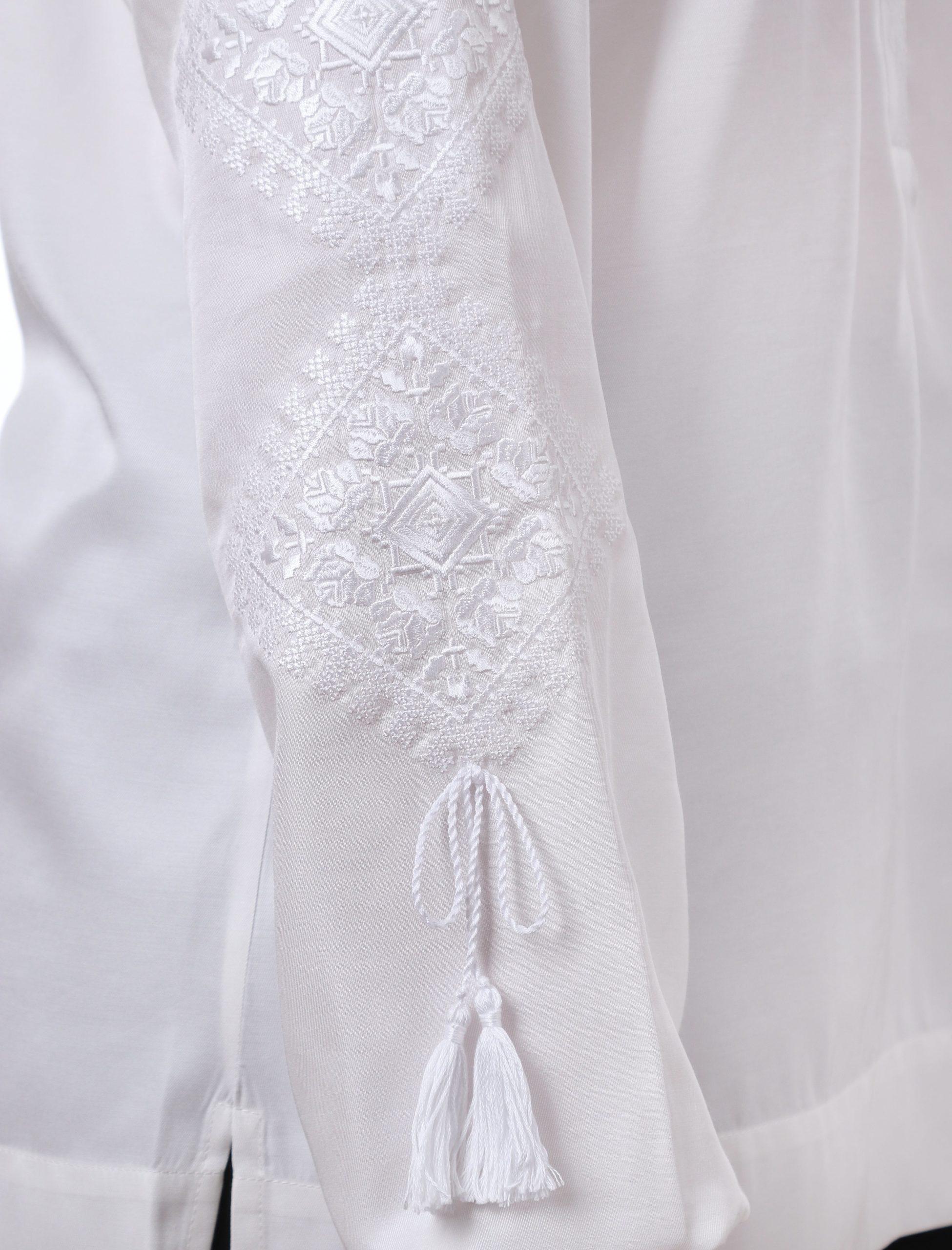Блуза з вишивкою «Троянди кохання» (біла)