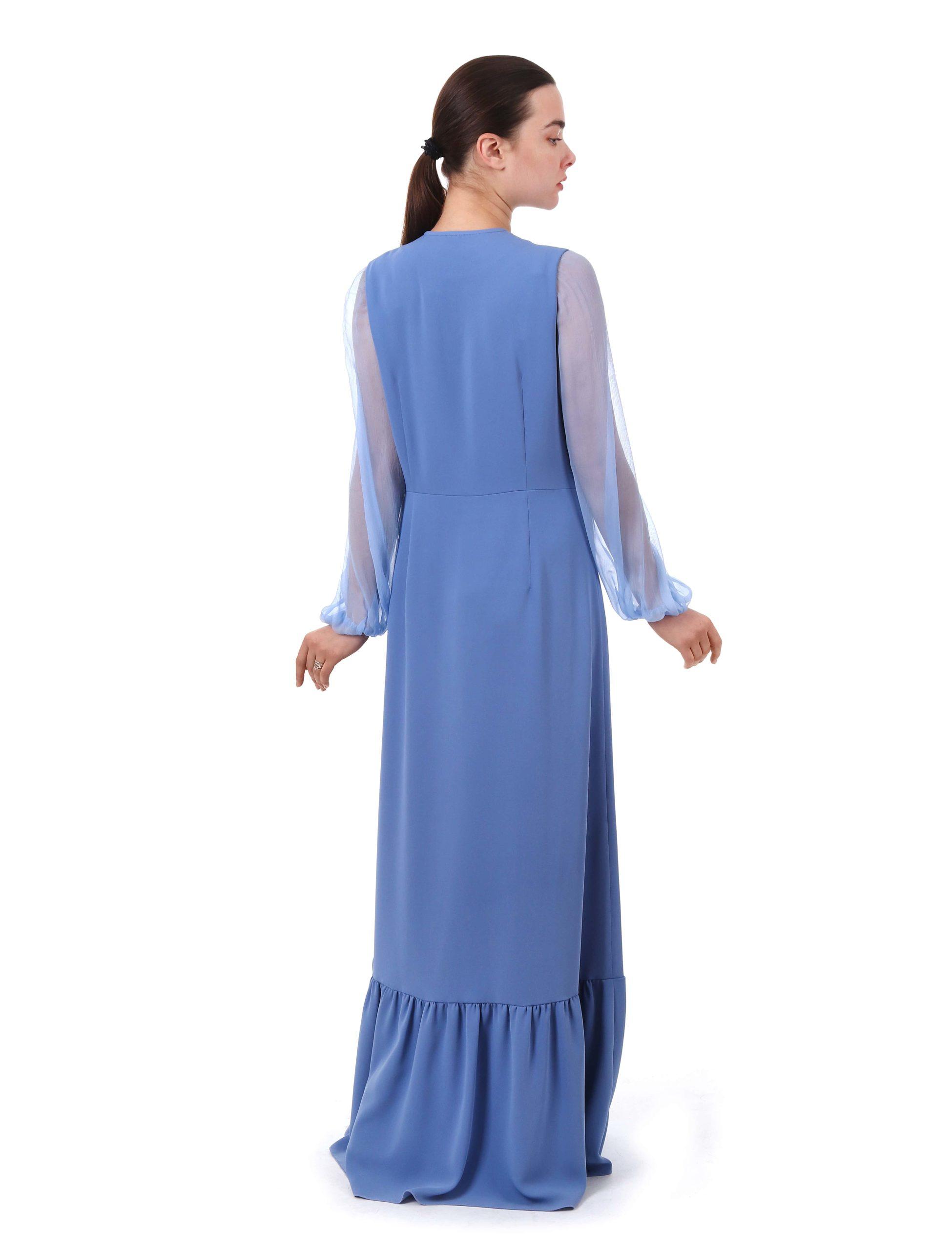 Сукня з вишивкою «Сарматський міф» (блакитна)
