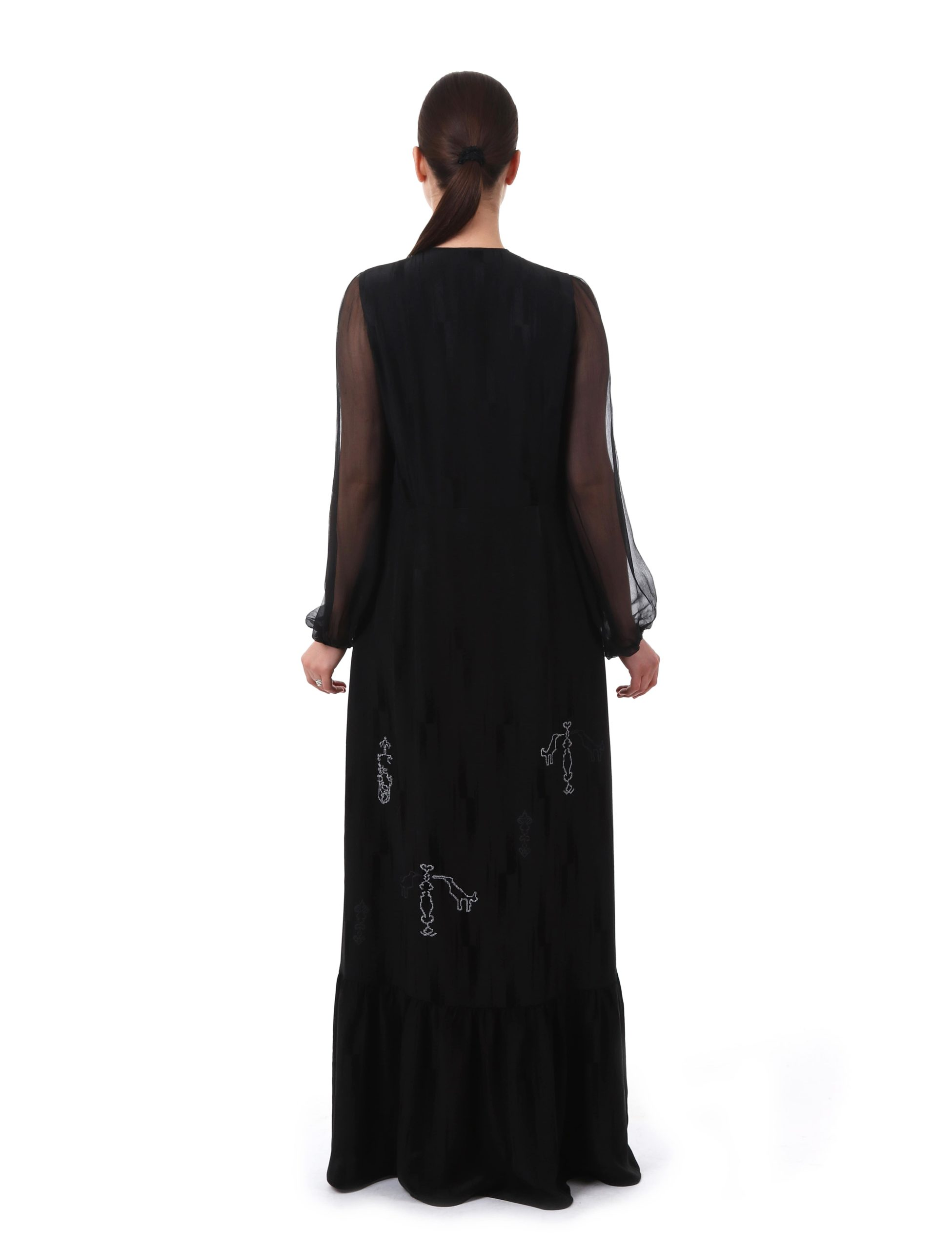 Сукня з вишивкою «Сарматський міф» (чорна)