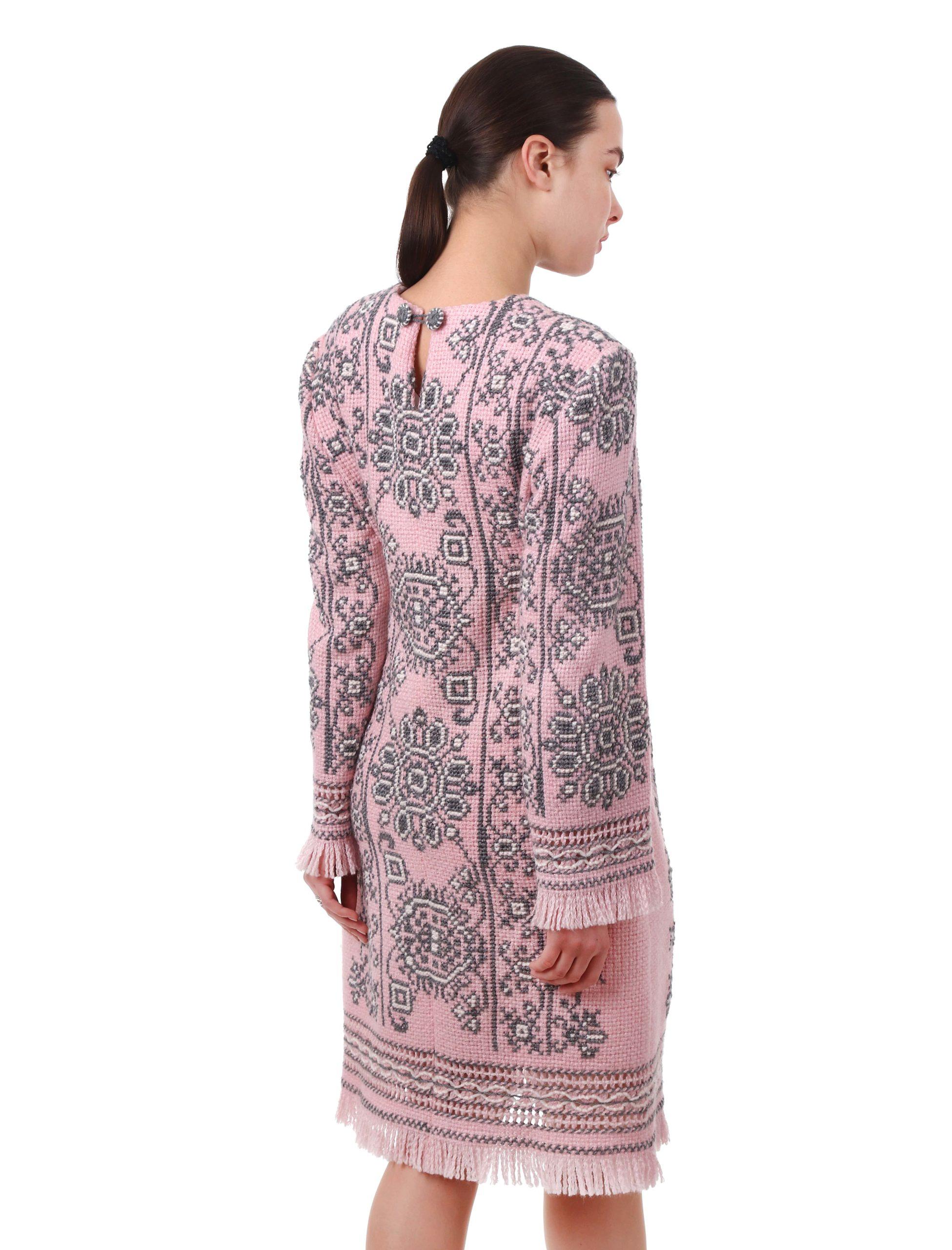 Сукня з вишивкою «Романс» (рожева)