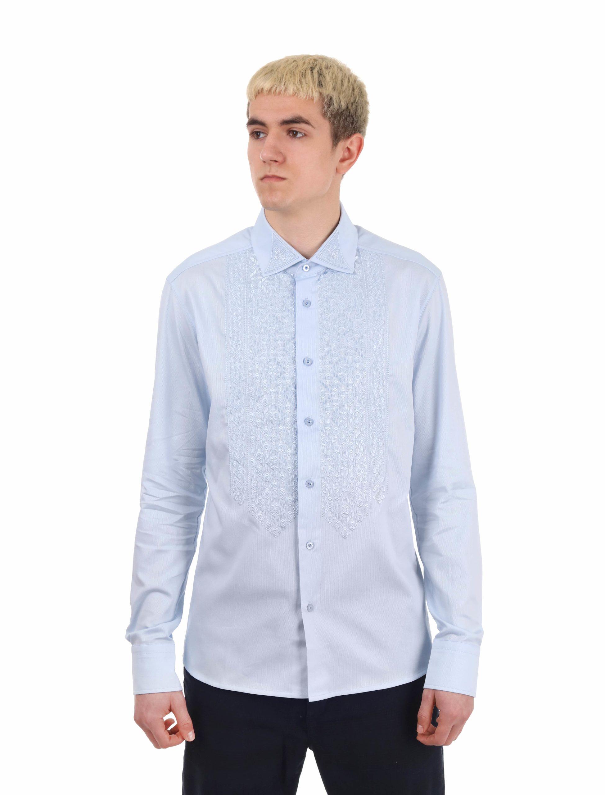 Сорочка «Співзвучність» блакитна бавовна