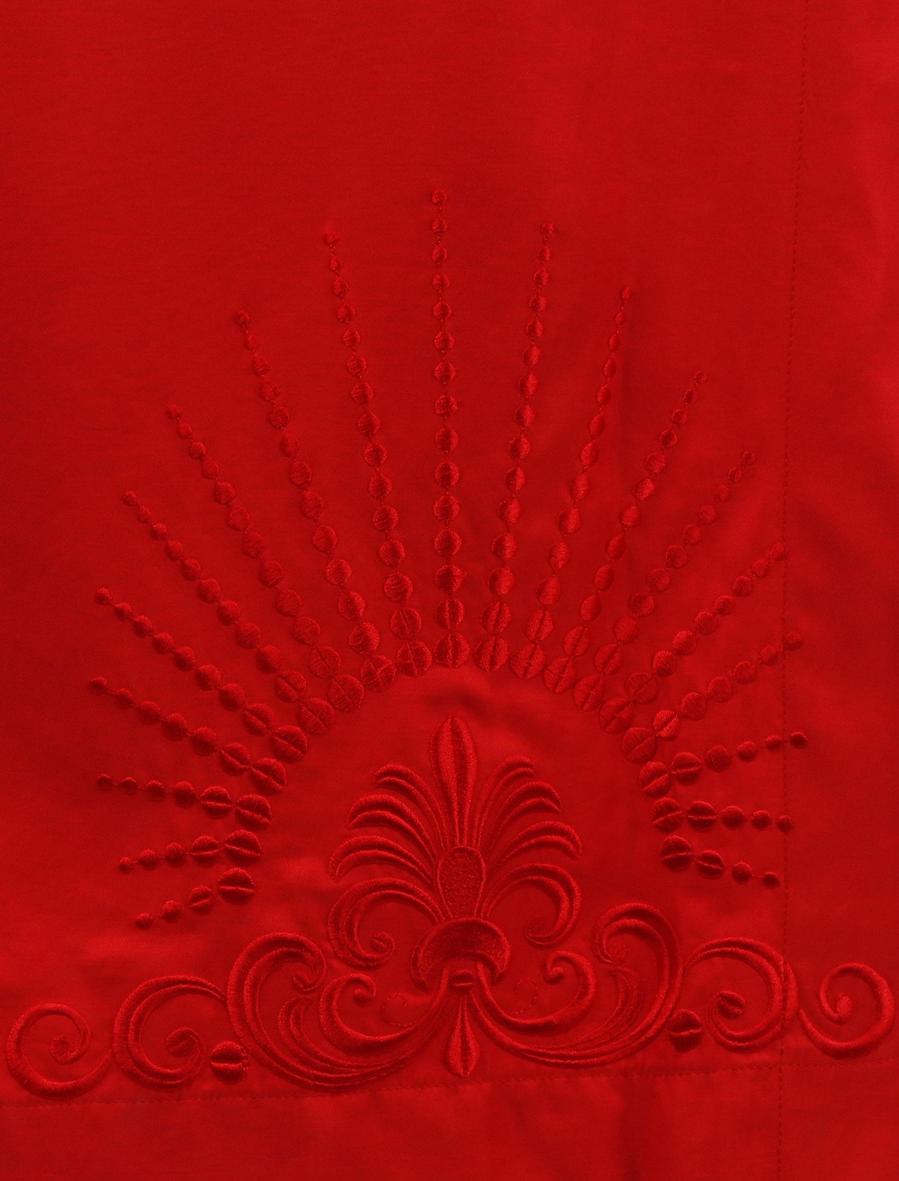Сукня червона з вишивкою «Намисто»