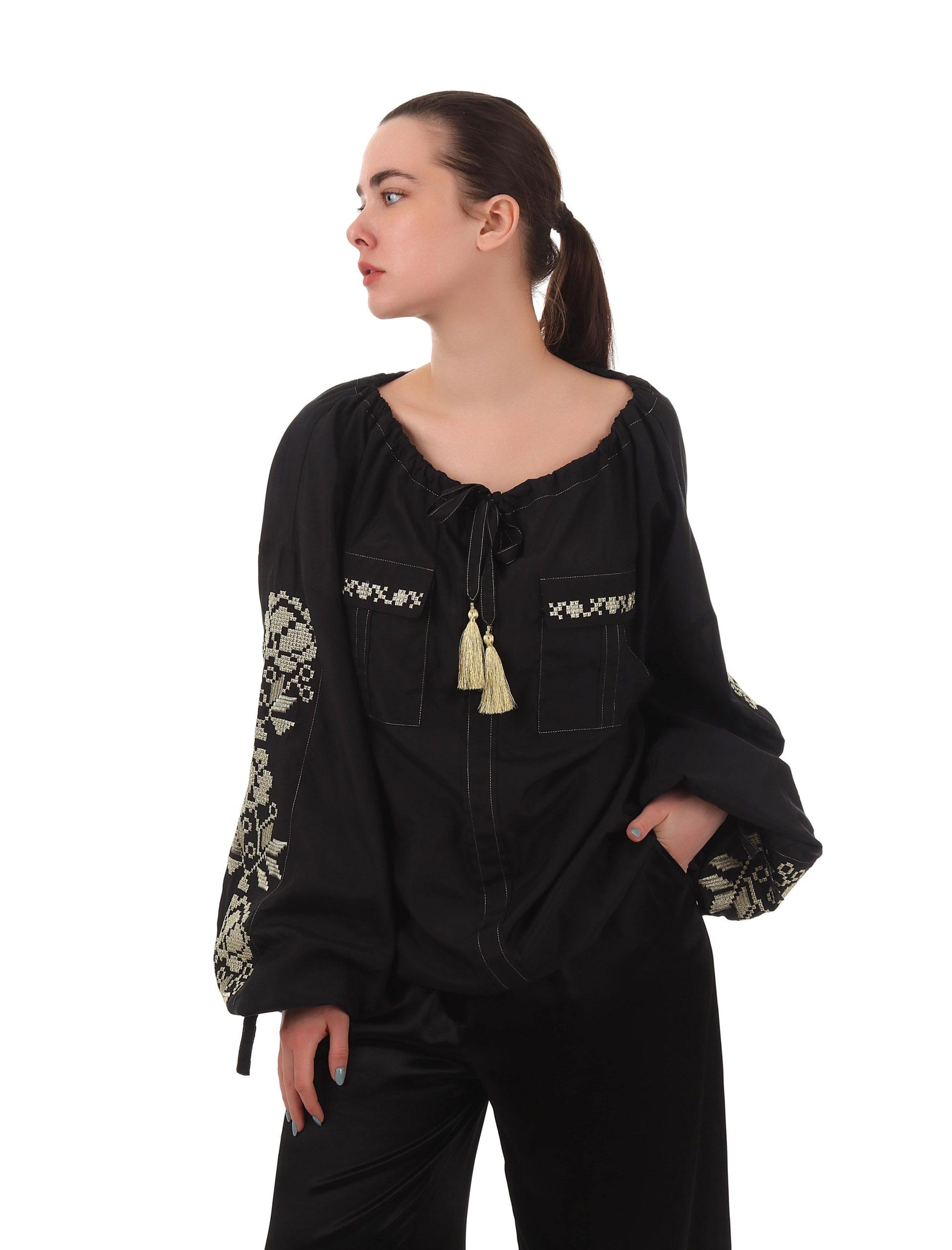 Блуза «Серпанок» з вишивкою