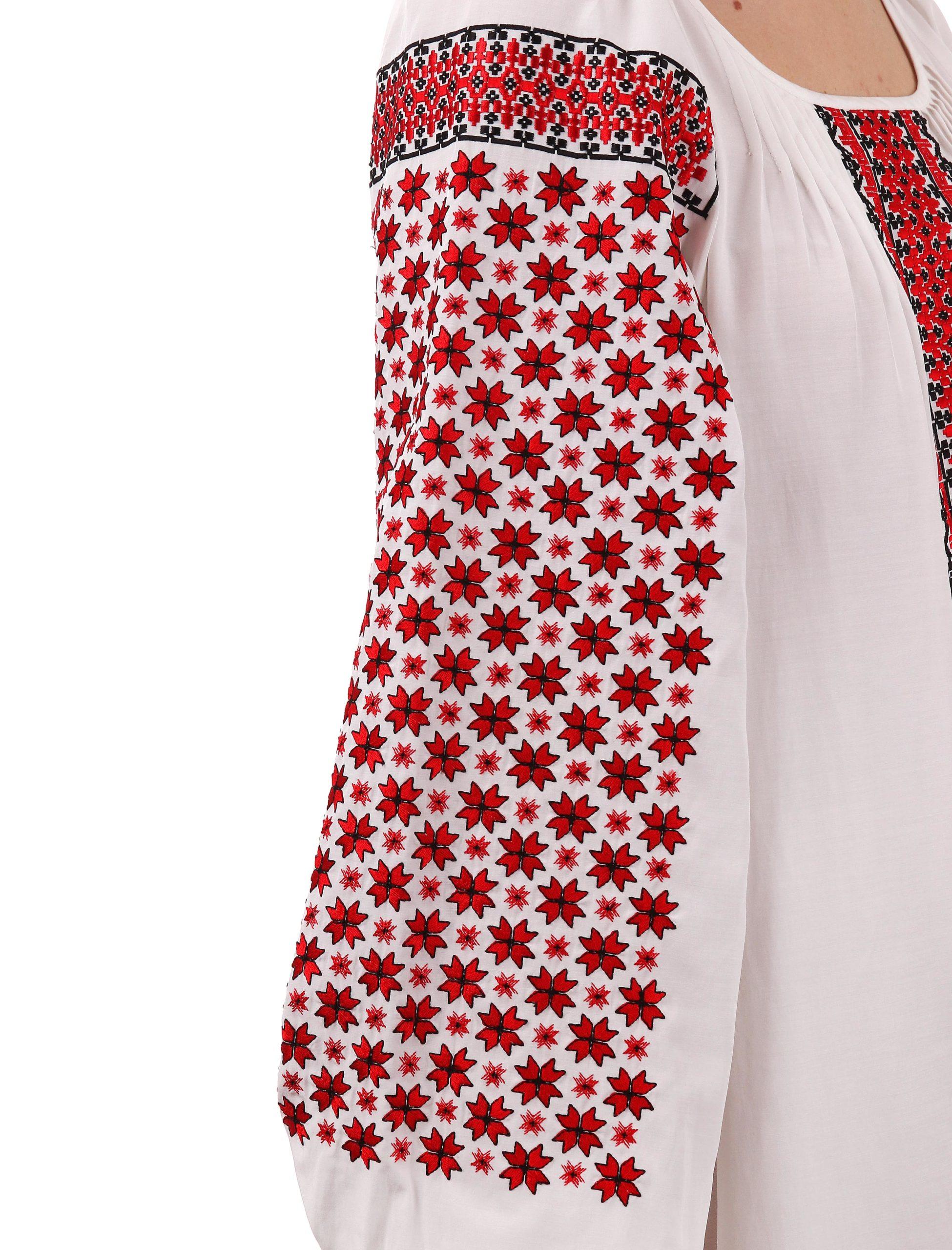Сукня з червоно-чорною вишивкою «Дрібні Зорі»