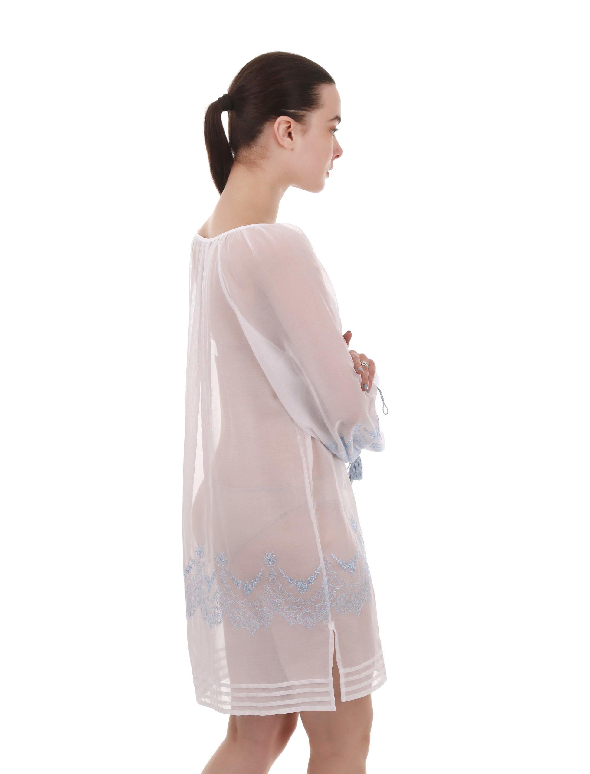 Блуза-туніка вільного силуету з орнаментом «Ажур»